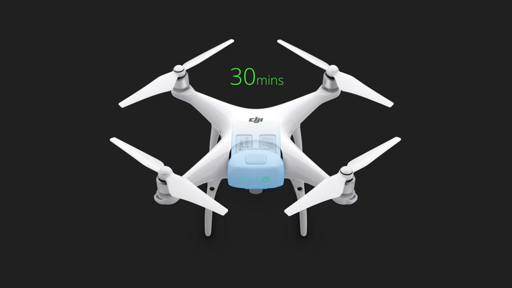 czas lotu drona dji phantom 4 pro