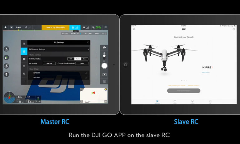 Inspire 1 Tutorials –How to set master and slave RC