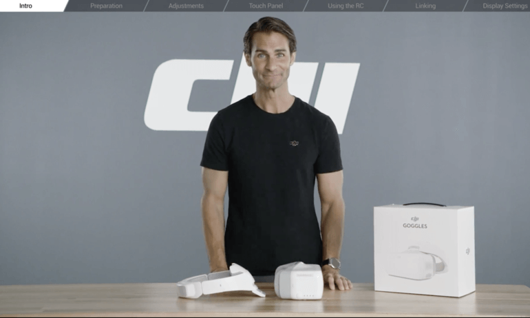 DJI – Goggles Tutorials – Preparing the Goggles