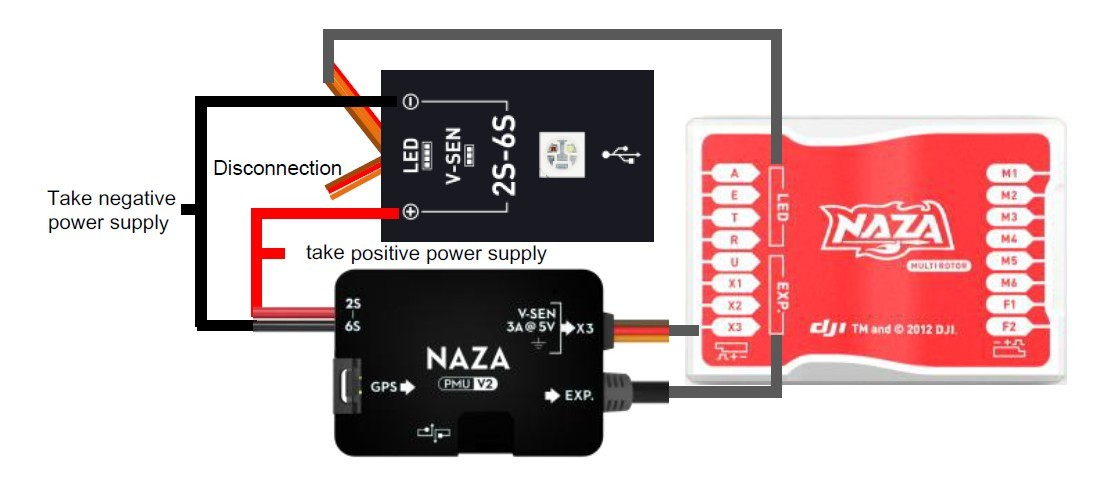 NAZA M V2 PMU EN naza m v2 with more features and function extension naza wiring diagram at panicattacktreatment.co